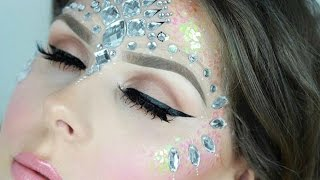 Glitter & Face Jewels Festival Makeup Tutorial! | Alice Jackson