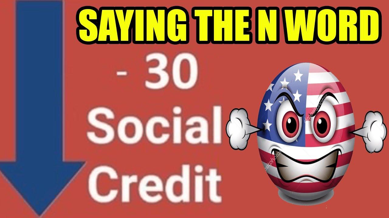 Social Credit meme but in U.S.A