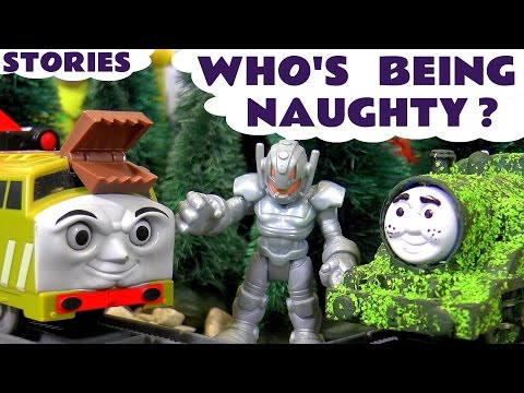 Naughty Toys Stories | Thomas and Friends Compilation with Avengers & Tom Moss | Family Fun TT4U