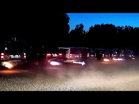 Volvo Exhaust Fireworks. Volvo Summer Fest Lithuania 2019