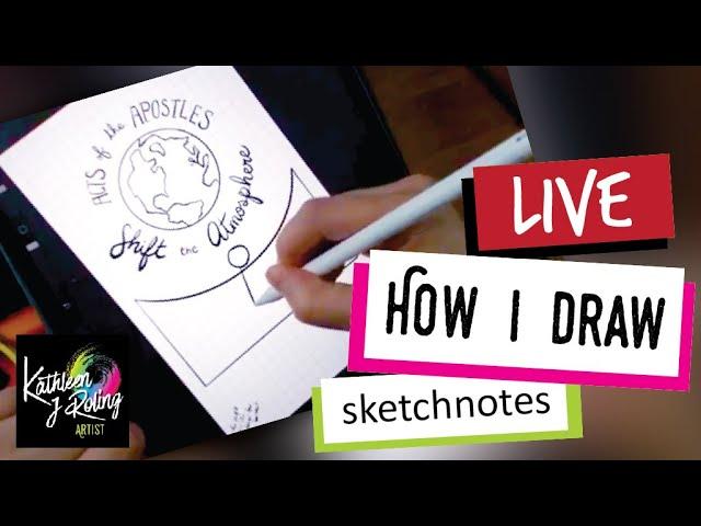 LIVE - How I draw sketchnotes