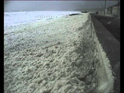 Foam on Borth Beach