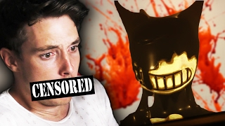 MAN PISSES HIMSELF AFTER JUMPSCARE - Bendy And The Ink Machine