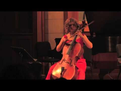 Shannon Hayden performs Ezra Laderman's Fantasy for solo cello- part 1