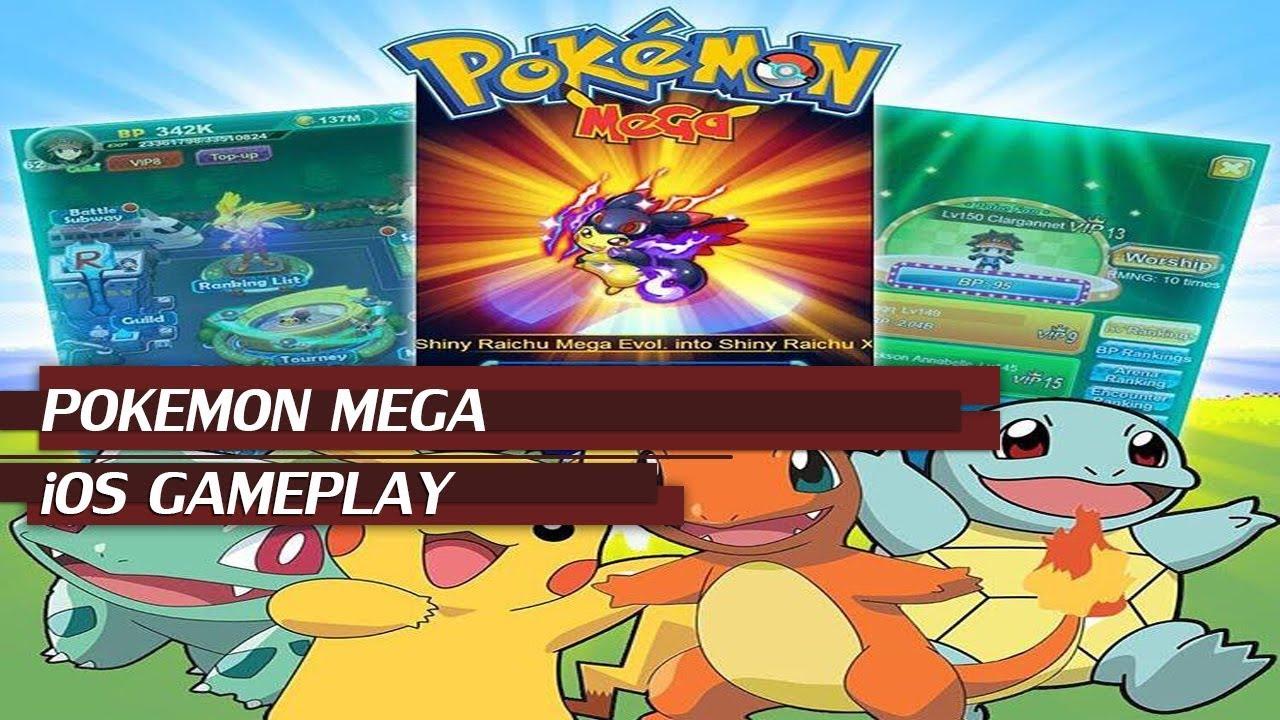 pokemon mega - ios gameplay | best online pokemon rpg game