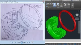 AutoCAD 3D Practice Drawing for Revolve Command | Create 3D Piston & Piston Ring