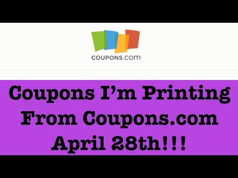Coupons to Print from Coupons.com for Extreme Couponing |April 28th|