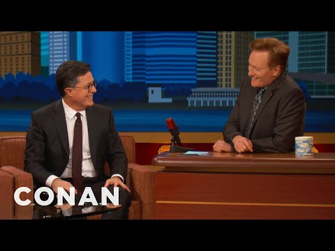 Stephen Colbert's 'Late Night With Conan O'Brien' Rehearsal Memory  - CONAN on TBS