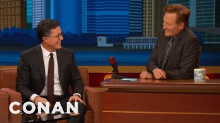 "Stephen Colbert's ""Late Night With Conan O'Brien"" Rehearsal Memory  - CONAN on TBS"