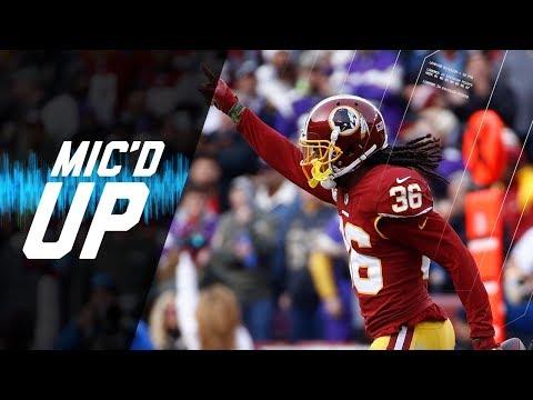 "D. J. Swearinger Mic'd Up vs. Vikings ""I'm Going to Get You Two Picks"" | NFL Sound FX"
