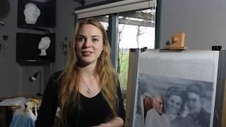 Kunstschilder Gabriëlle Westra, mede-organisator Salon 2018