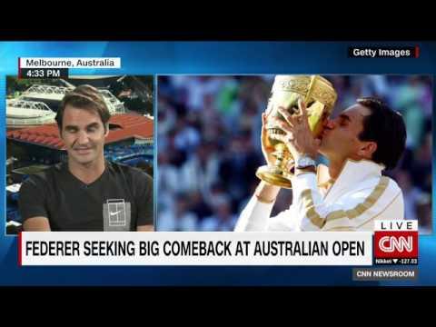 Roger Federer on CNNi