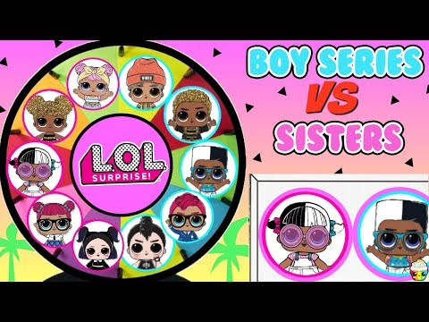 LOL Surprise BOY Series VS Sisters Spinning Wheel Game Fun Surprises