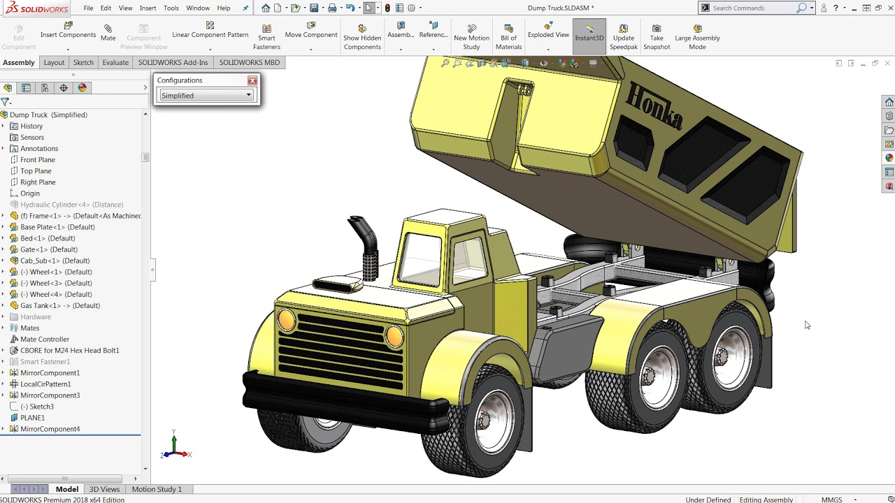 SOLIDWORKS: Making Subassemblies Flexible