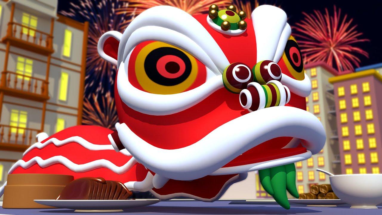 神秘的年兽 👹 春节特辑 - 警车和消防车在汽车城 🚓 🚒 国语中文儿童卡通片 Car City - 恭喜發財 - 新年动画  Chinese New Year Cartoon