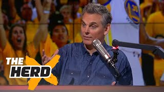 Warriors win Game 1 of 2017 NBA Finals, Kevin Durant impresses - Colin reacts | THE HERD