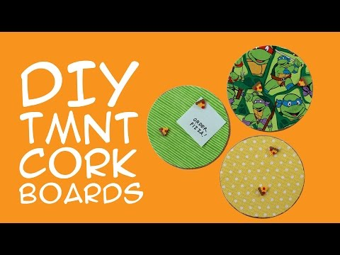 Teenage Mutant Ninja Turtles DIY Cork Boards for TMNT Fans - A GeekyMcFangirl Tutorial