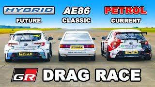 Фото Toyota Gazoo Racing DRAG RACE *Petrol V Hybrid V Classic*