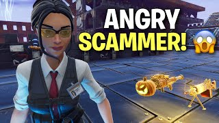 The angriest scammer ever just got exposed! 😱 (Scammer Get Scammed) Fortnite Save The World