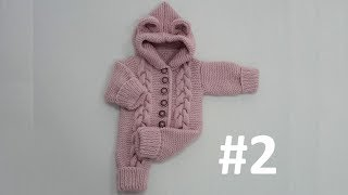 Baby Jumpsuit with a Hoodie (1-Year) #2 - Making of Sleeve and Hoodie