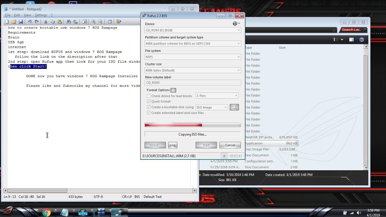 windows 7 rog rampage 64 bit e3 iso