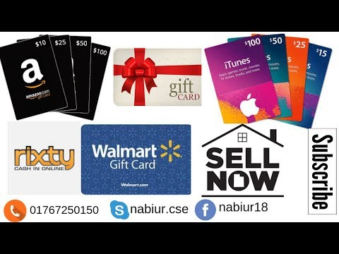 How To Sell You Any Gift Card Dollar Like Amazon, Walmart, Itunes, Rixty Etc| Sell Now Via Taka |