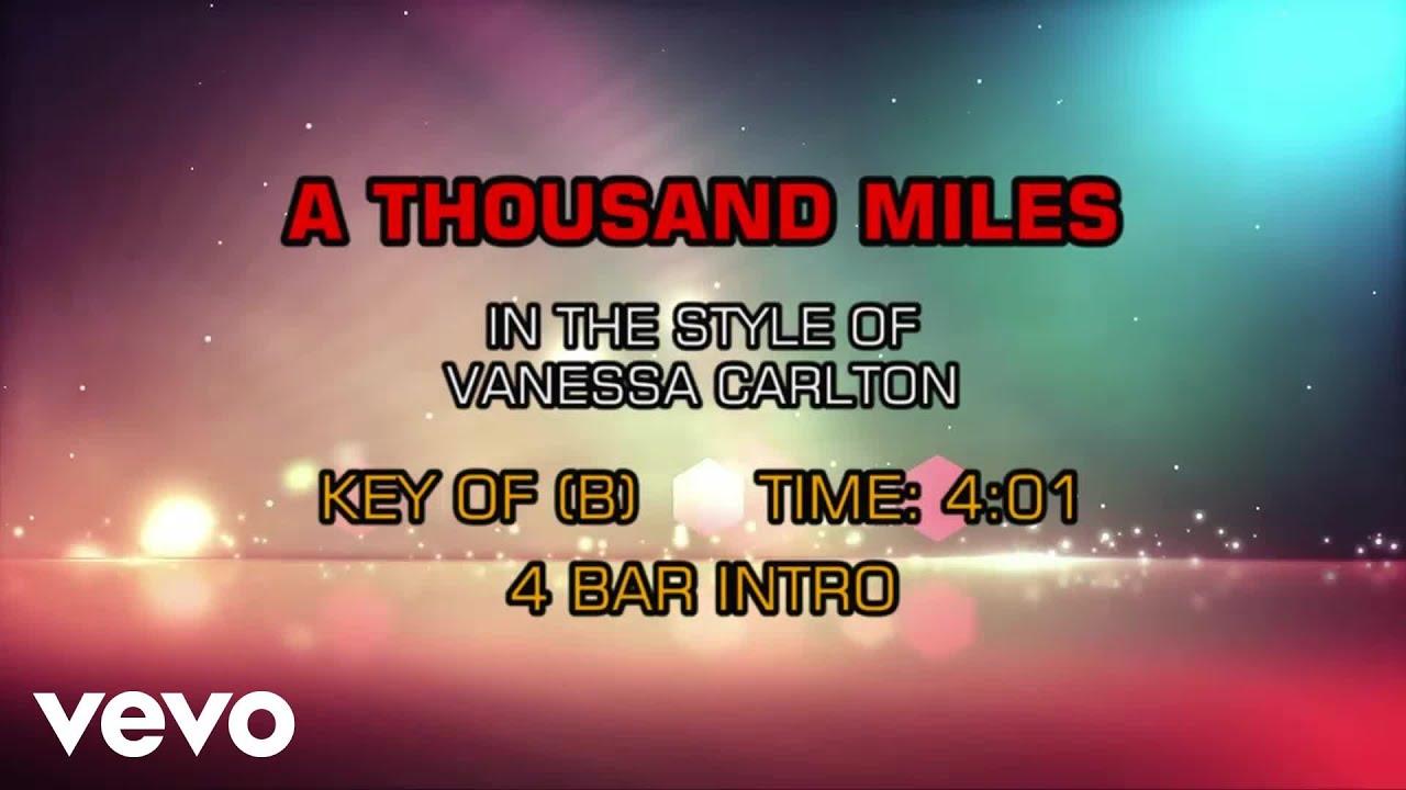 Karaoke A Thousand Miles - Vanessa Carlton * - YouTube