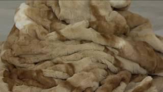 Dennis Basso 55x65 Oversized Signature Faux Fur Throw with Teddy Bear on QVC 0c486c6f0dd36