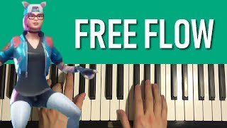 FORTNITE - Free Flow (Piano Tutorial Lesson)