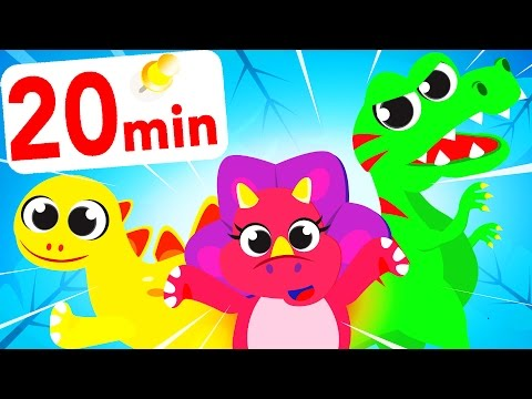 10 Little Dinosaurs Counting! Baby T-Rex, Tyrannosaurus, Mini Eggs, Clours by Little Angel