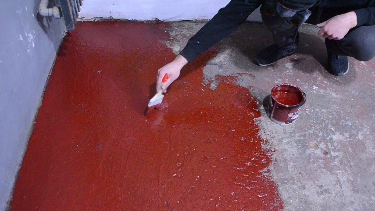Цементная стяжка должна быть полностью сухой, исключение можно сделать только в случае использования эпоксидных красителей.