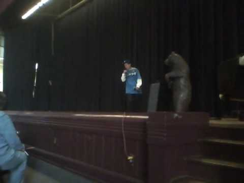 Santiago Rapping at East High School Talent Show
