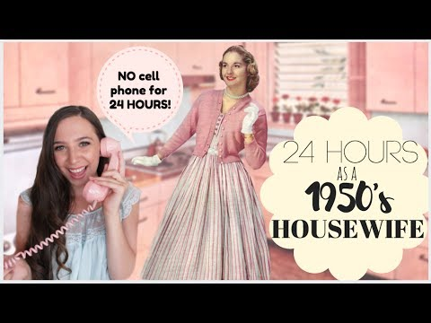 I Lived Like A 1950's HOUSEWIFE For 24 HOURS!   Emelyne