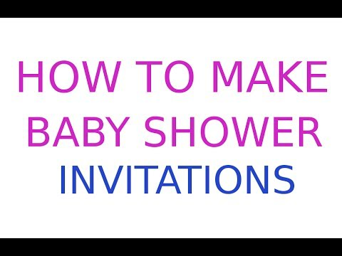 How To Make Baby Shower Invitations For Free YouTube