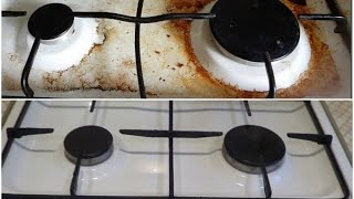 видео Как и чем очистить плиту от жира: народные средства против пригоревшего жира на газовой плите