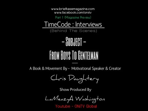 ON1TV #TimeCode Interview w/ Motivational Speaker- Chris Daughtery