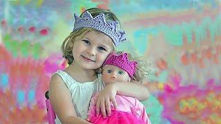 Вязаная корона для юной красавицы Knitted crown for the young beauty