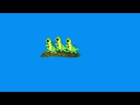футажи на хромакей веселые лягушки из мульт фильмов