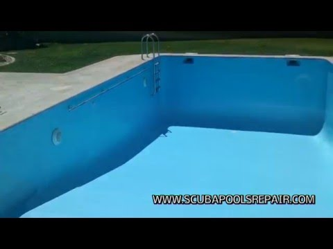 Como reparar una piscina con fugas en girona www for Vaciado de piscina