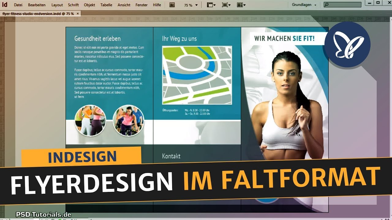indesign tutorial flyerdesign im faltformat erstellen. Black Bedroom Furniture Sets. Home Design Ideas