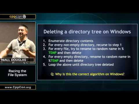 "CppCon 2015: Niall Douglas ""Racing The File System"""