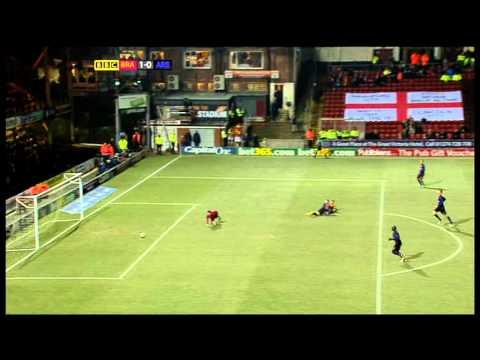 Bradford City v Arsenal 11th December 2012 League Cup Quarter Final BBC Highlights