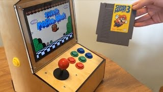My Bartop Arcade Cabinet powered by a Raspberry Pi with iPad 2 LCD and running RetroPie