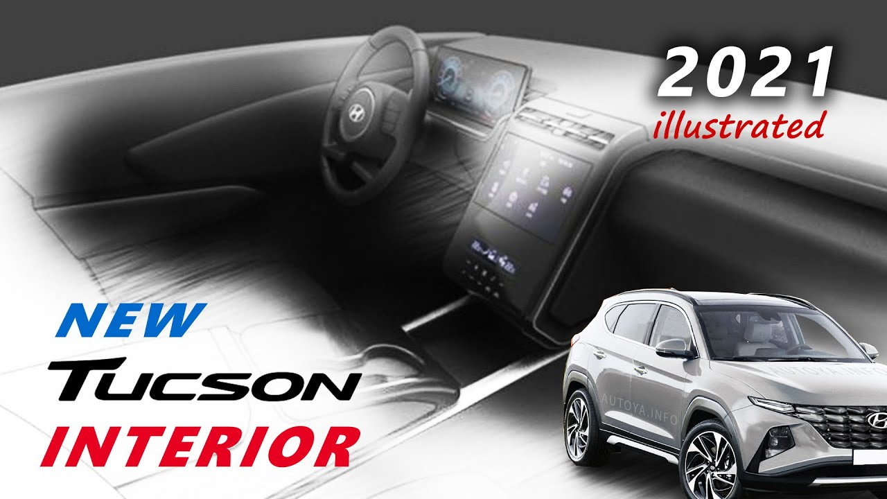 hyundai tucson 2021 interior render with new model