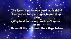 the royal guardsmen snoopys christmas lyrics - Red Baron Christmas Song