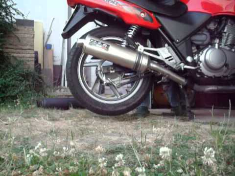 msr auspuff an honda cb 500 pc26 youtube. Black Bedroom Furniture Sets. Home Design Ideas