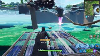 Insane Fortnite Loot Lake Under Floating Island Under Tornado under map god mode glitch
