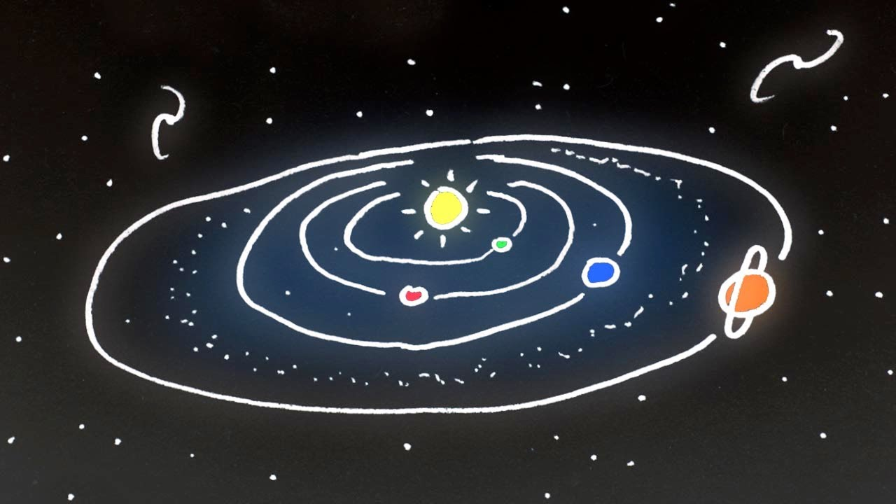 what causes the planets and moons in our solar system to orbit the sun - photo #25