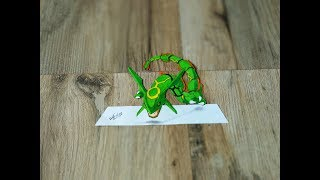Drawing 3D Rayquaza From Pokemon - Drawing 3D Pokemon - Art Maker Akshay