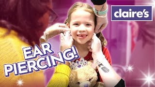 Maya Gets Her Ears Pierced at Claire's